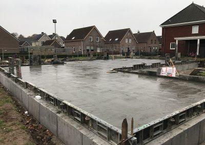 betonvloer gestort bouwplaats wei sprangers metselwerk en meer