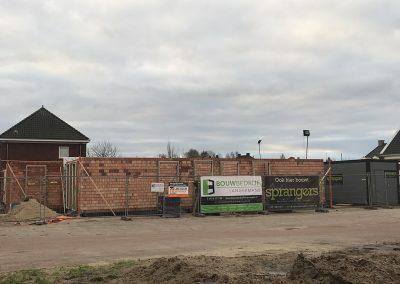 bouwplaats wei begane grond binnenwerk sprangers metselwerk en meer